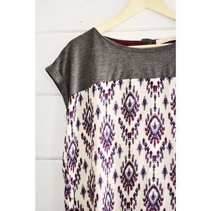 Tops - Short Sleeve Print Top Size L
